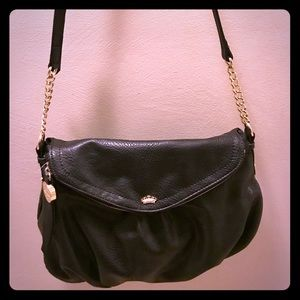 Juicy Couture black leather handbag